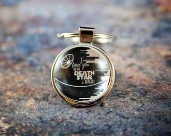 Star wars keychain, Death Star keychain, Love you, star wars gift, Star Wars, Star wars fan gift, gift for geeks, deathstar keychain
