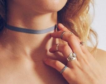 Blue Choker, Cute 90s Choker, Necklace Ribbon Choker, Trendy Chokers, Chokers for women, Choker Necklace, Light Blue Ribbon Choker