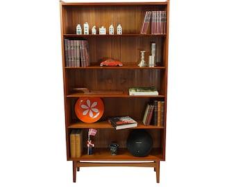 Danish Mid Century Modern Johannes Sorth Teak Bookcase