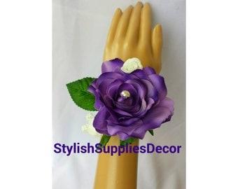 Purple Corsages Lavender Corsage Purple Wrist Corsage Lavender Wrist Corsage Purple Prom Corsage Purple Wedding Corsage Purple Bridesmaids