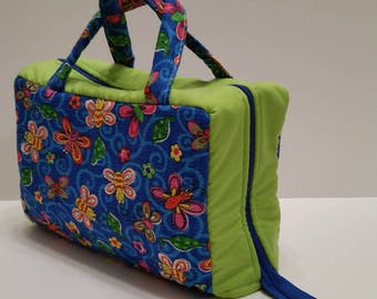 Fun Butterfly Lunch Tote Opening Into a Tray.