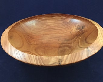 Red Elm bowl with under cut rim