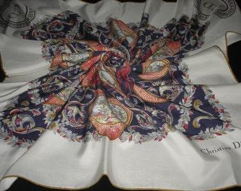CHRISTIAN DIOR 100% silk scarf / PROMOTION! Free shipping.  Dior