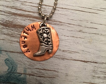 Cowboy or cowgirl necklace