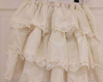 Victorian Bustle Skirt, Cosplay, Vintage Bustle, Lace Bustle, Bridal Bustle, Lolita Skirt, Skirt with Ribbons and Bows, Layered Skirt