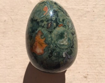 Rainforest / Rhyolite Jasper Egg