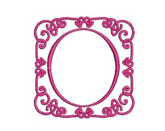 Machine Embroidery Scroll Frame Design