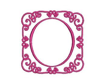 Machine Embroidery Scroll Frame Design