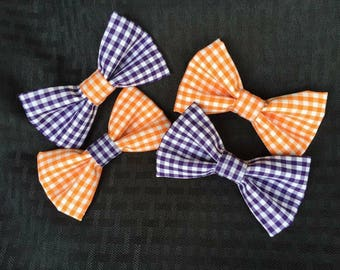 Gingham (15+ color options) Clip On Bow Ties!