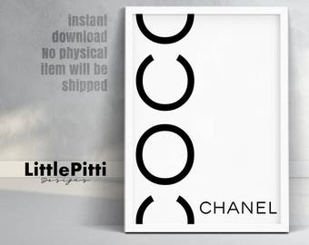 Coco chanel poster, Coco chanel, coco chanel print, chanel poster, fashion print, coco chanel decor, fashion wall art, chanel download