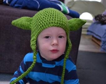 Crochet Yoda Hat Baby/Toddler/Child/Adult Star Wars