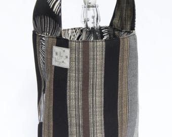 2 Bottle Carriers - Stripes & Blooms
