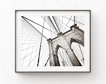 Brooklyn bridge print, New York Poster print, Bridge Print, New York Photography Print, NYC print, Brooklyn Print