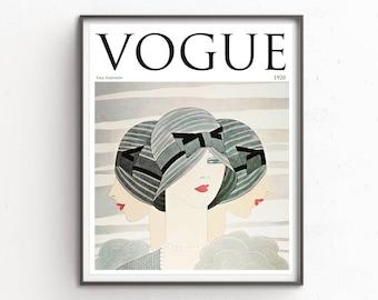 Vogue Print 1920 Magazine Cover, Art Nouveau Vogue Print, Vogue print, Vogue Poster, Vintage Vogue Magazine, Art Nouveau print,