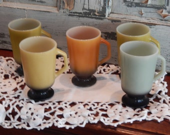 Fire-King Pedestal Coffee Cups by Anchor Hocking