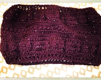 Crocheted Purple Glitter Cowl