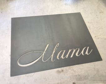 mama magnet board 18in x 14in mothers day metal sign house iron - Metal Signs Home Decor