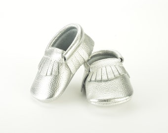 Silver baby shoes | Etsy