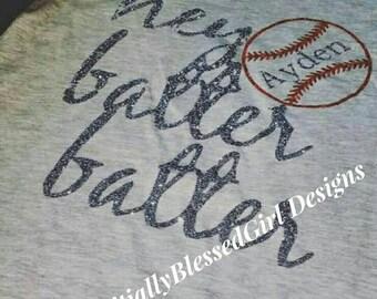 Hey Batter Batter Raglan,Sports Shirt, proud mom, Baseball,  Hey Batter Batter Baseball Shirt, Baseball Shirt, Raglan, Personalized