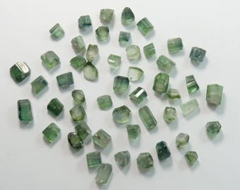 50 Pieces Tourmaline Beads Undrilled Size====8x7x6mm to 9x7x5mm