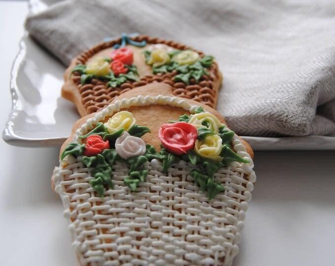 Set Muttertagskekse, 2 Kekse, Schleife,Blume, feminin, Rose, personalisierbar