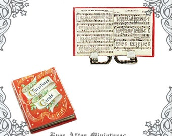 CHRISTMAS CAROLS Music Sheet Dollhouse Miniature Book –1:12 Christmas Carols Miniature Book Christmas Song Miniature Book Printable DOWNLOAD