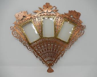 Old copper photo door fan