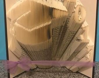Graduation, Folded Book, 2017 Congratulations!, Graduation Cap, High School Graduation Gift, College Graduation Gift, Unique Gift