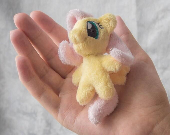 "Fluttershy My Little Pony Plush Tiny Toy 3,5"" minky Keychain Charm Pendant"