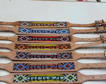 Beaded whither strap