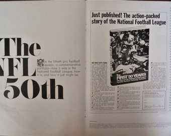 1969 NFL Schedule Booklet.  1969 NFL Schedule ad.  NFL 50th anniversary ad.  20 page booklet.