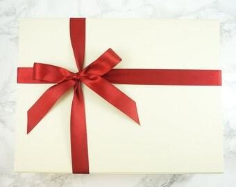 Gift Box, Bridal Gift Box, Ivory Gift Box, Gift Wrapping, Wedding Gift Box