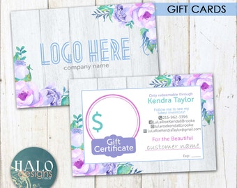Gift Cards - Purple Flowers