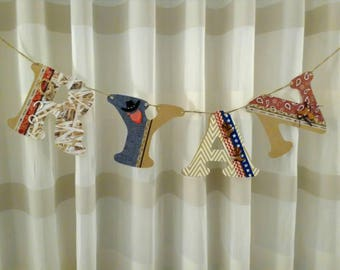 Personalized name banner, Baby Shower Banner, custom name banner, western theme, boys room decor, boys room decoration, cowboy