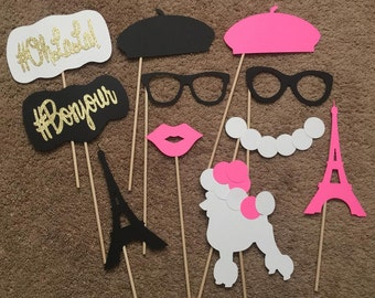 11-pack Paris Party Themed Photo Booth Props