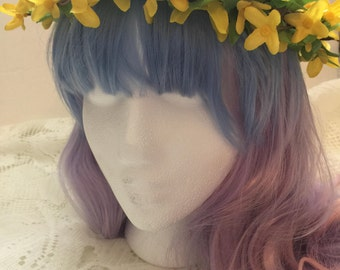 Yellow Flower Crown, Headband/Hair Accessories