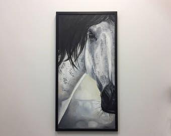 """Gray Horse """"Spirit"""" 18x36 Oil"""