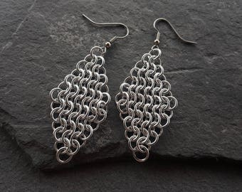 Diamond Chainmaille Earrings
