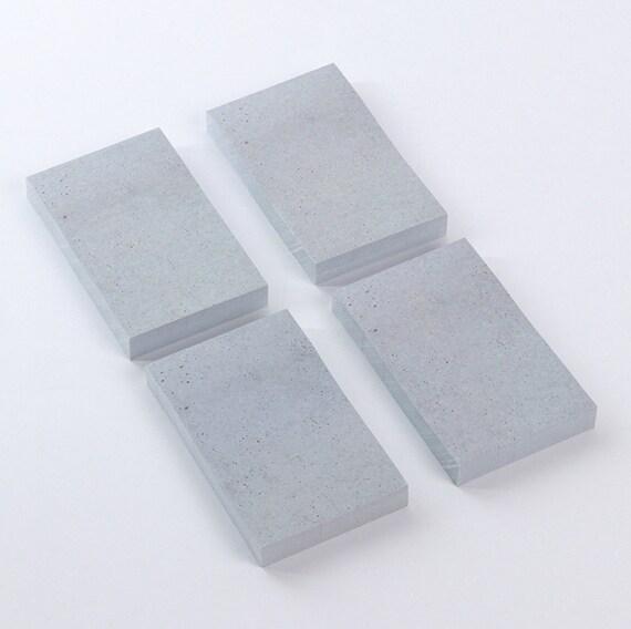 Minimalist Concrete Notepad, Tear-off Notepad, Notebook