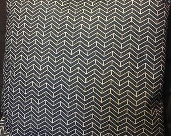 """Double-sided geometric grey arrows cushion cover 18"""" cotton linen"""