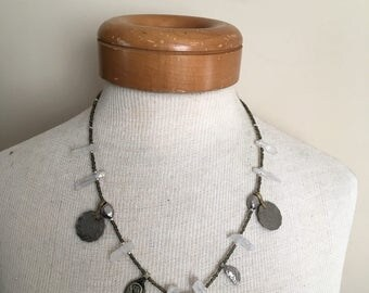 Magic Quart & Glass Bead necklace