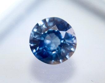 Natural Ceylon Blue Sapphire Round Cut