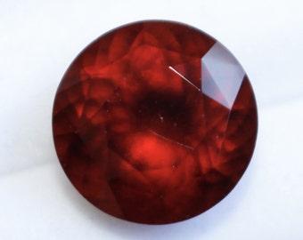 Natural Red Garnet Round Cut - 12mm 7.50 Cts - Loose Garnet Gemstone