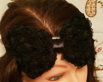 Chiffon Rosette - Black - Headband