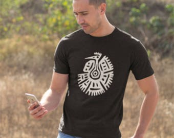 T-shirt with Tribal Art Vulture