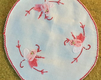 Embroidered and Appliquéd  Cotton Dressing Table Mats