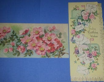 Vintage Unused Birthday Cards, Greeting Cards, 1950's,1960's, 2 Cards