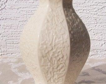 """8"""" Tall White Embossed Lenox Vase"""