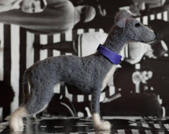 Needle Felted Italian Greyhound - One Of A Kind, Hand Made
