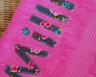 100% Egyptian Cotton Personalised Bath Towel